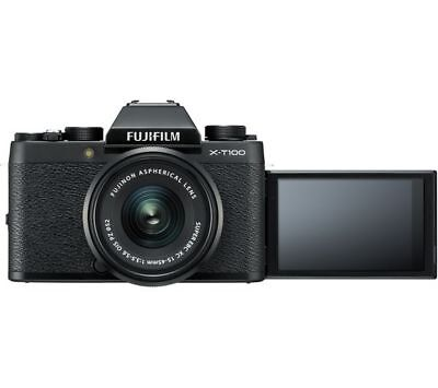 FUJIFILM X-T100 Mirrorless Camera with FUJINON XC 15-45 mm f/3.5-5.6 OIS PZ Lens