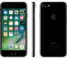 *NEW Apple iPhone 7 Jet Black 128gb unlocked boxed charger fully working