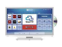 Toshiba White 32 inch Smart LED TV Built in DVD