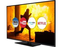 Panasonic 55 inch Smart Ultra HD 4K Slim LED TV, HDR, 1200Hz, Quad Core, WiFi, Netflix, Youtube