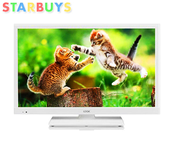 "White 24"" Inch LED LCD TV DVD Combi HD Ready, Freeview USB Record & Pause & Play"
