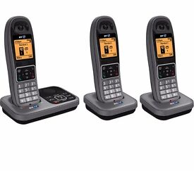 New BT 7610 Cordless Phone with Answering Machine Triple Handsets Was: £139.99
