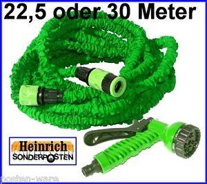 magischer gartenschlauch flexibler wasserschlauch 22 5 bis 30 meter dehnbar flex. Black Bedroom Furniture Sets. Home Design Ideas