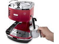 Red delonghi coffee machiene