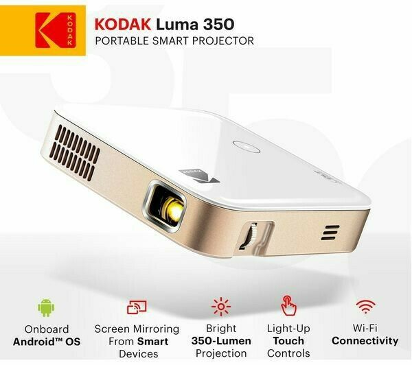 "Kodak Luma 150 Pocket Projector - Portable Movie Projector includes 84"" screen"