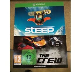 Steep + The Crew Digital Dl (2 full games) plus 1 month xbox game pass £20 ! price stands !