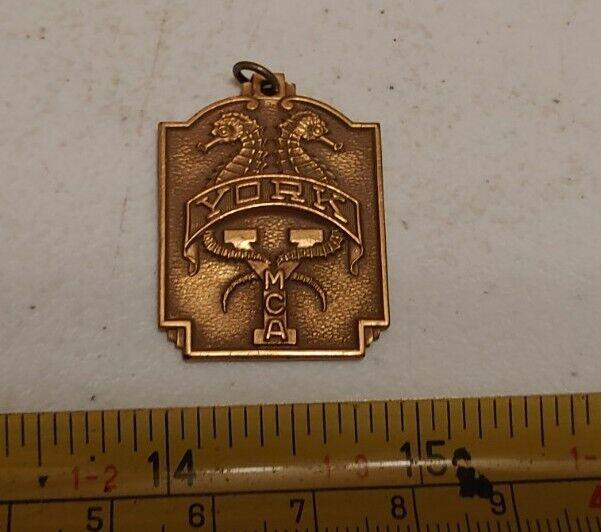Vintage 1950 York PA YMCA Aquatic Club Swimming Medal Seahorses