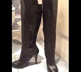 Black heeled Zara Boots