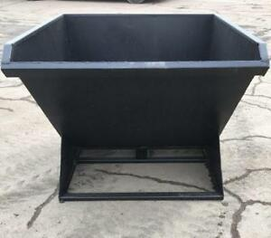 NEW 2 CY SKID STEER DUMPING BIN W  QUICK ATTACH