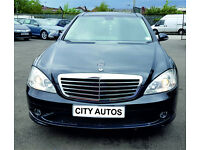 MERCEDES BENZ S CLASS S320 2007 94,800 MILES FULL SERVICES HISTORY 3.0 DIESEL SEMI AUTO BLACK SALOON