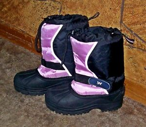 Girls Pink & Black Winter Boots for sale
