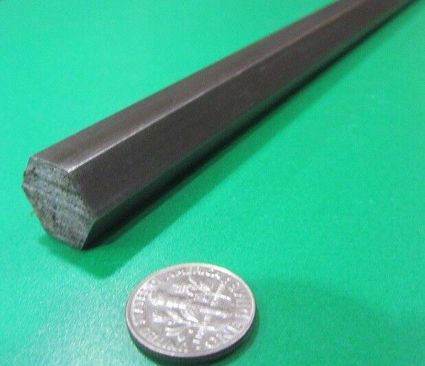 "1215 Carbon Steel Hex Rod 9/16"" Hex x 6 Foot Length"