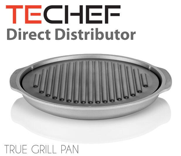 TECHEF - TRUE GRILL PAN - Stovetop Nonstick Indoor/Outdoor S