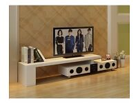 White High Gloss TV Stand with Built-In Bluetooth Speaker for TV up to 70 inches Brand New in Box