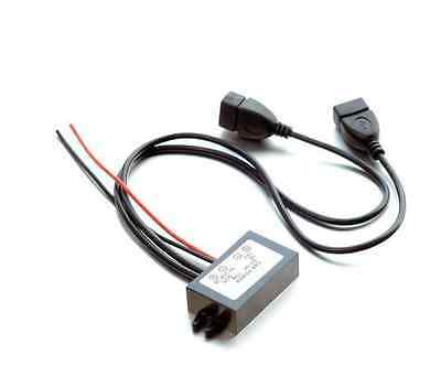 Car Power Supply Converter DC 12v turn 5v 3A Dual USB Automotive Electricity