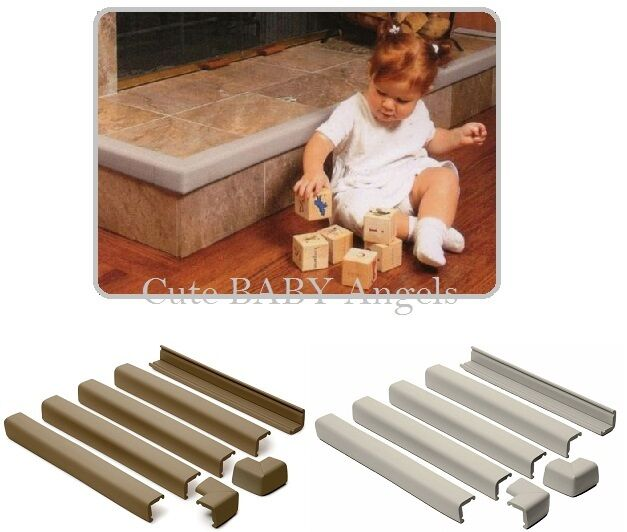 Prince Lionheart Cushiony Fireplace Guard + 2 Corners Baby Child Proofing Foam