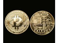 BitCoin Gold plated collectible gift