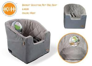 NEW KH Manufacturing Bucket Booster Pet Car Seat, Large, Gray Condition: New, Large