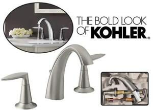NEW Kohler K-45102-4-BN Alteo Widespread Lavatory Faucet, Vibrant Brushed Nickel Condtion: New, Vibrant Brushed Nickel