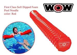 NEW WoW Sports 17-2064R First Class Soft Dipped Foam Pool Noodle, Red Condition: New,some slight imperfections, Red