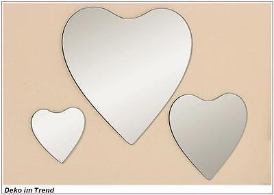 Spiegel Herz Herzspiegel Dekospiegel Kerzenteller herzförmig 3 tlg