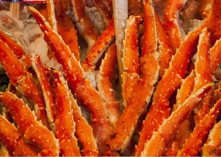 (4 lbs) Super Colossal Red King Crab Legs- (Item 4-7) (Approx 2 legs in 4 lbs)