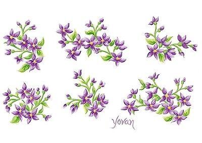 Tatouage Lavender Jasmine Dry Rub Transfer Wall Mural  1 Sheet