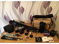 Vintage Yashica FX2 SLR Camera & HUGE Bundle of Accessories COLLECT LEEDS
