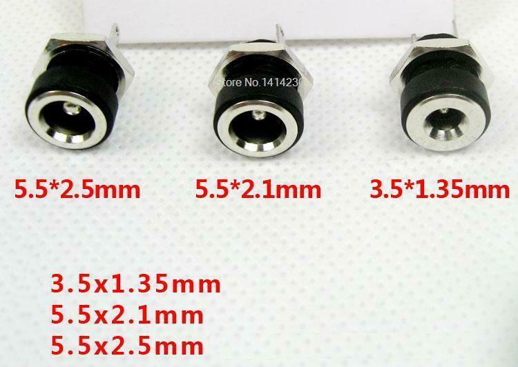 10Pcs DC Power Jack Socket Female Panel Mount Connector 3.5 mm x 1.35mm LD