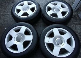 "5 x Audi alloys 16"" with amazing tyres"