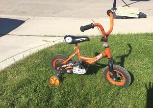 "10"" bicycle with training wheels"