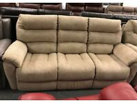 Fabric electric recliner 3 and 2 seater sofa
