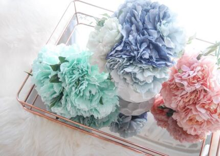 New Pastel Peony Flowers Silk Home Decoration