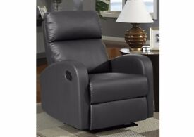 Nevada Recliner Chair BROWN Faux Leather new