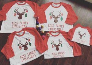 Family Christmas pyjamas and shirts