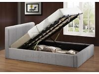 Birlea Beds Brooklyn Ottoman Grey Double Storage Bed