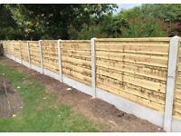 ✨Heavy Duty Timber Wayneylap Fence Panels New • Pressure Treated