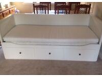 Ikea Hemnes Day Bed With 3 Drawers & 2 Mattresses