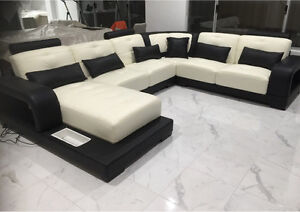 Sofa Lounge modular Italian leather custom made - with lights Perth Perth City Area Preview