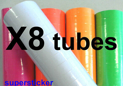 White Price Tags For Mx-6600 2 Lines Gun 8 Tubes X 11 Rolls X 500