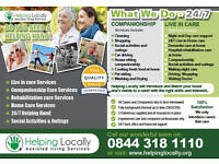 Live In Carers required Swansea areas flexible working weeks