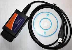 Generic OBD2 Code Reader ELM327 USB cable