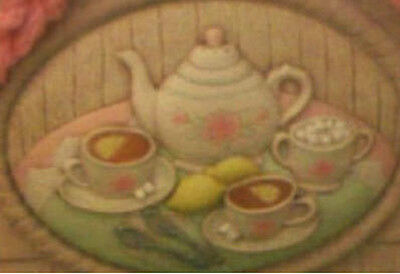 Ceramic Bisque Ready to Paint Tea Party insert