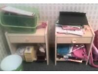 Two bed side table drawer free