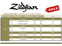 Destocking Sale Zildjian Cymbals