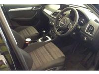 Black AUDI Q3 4X4 1.4 1.6 1.8 2.0 TDI Diesel QUATTRO S LINE FROM £77 PER WEEK!