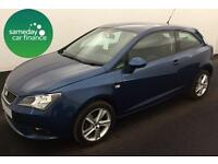ONLY £147.89 PER MONTH BLUE 2013 SEAT IBIZA SC 1.4 TOCA COUPE PETROL MANUAL