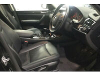 Black BMW X3 2.0TD 2015 xDrive20d xLine FROM £83 PER WEEK!