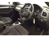 Black AUDI Q3 4X4 1.4 1.6 1.8 2.0 TDI Diesel QUATTRO S LINE FROM £103 PER WEEK!