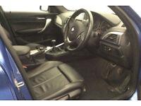 Blue BMW 120d M Sport 2.0 5 door Manual FROM £51 PER WEEK!